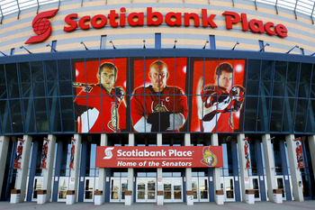 OTTAWA, CANADA - APRIL 07:  Scotiabank Place is quiet early in a game day before a game between the Montreal Canadiens and the Ottawa Senators on April 7, 2011 in Ottawa, Canada.  (Photo by Phillip MacCallum/Getty Images)