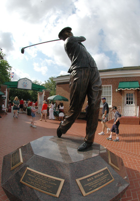 Ben Hogan statute  at Colonial Country Club is set for play in  the final round of the PGA Tour Bank of America Colonial in Ft. Worth, Texas, May 23, 2004. Scenic Golf (Photo by A. Messerschmidt/Getty Images) *** Local Caption ***