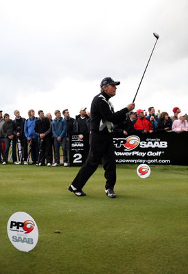 NEWPORT, WALES - MAY 30:  Gary Player of South Africa in action during PowerPlay Ignition Golf on the Twenty Ten course at the Celtic Manor Resort on May 30, 2011 in Newport, Wales.  (Photo by Richard Heathcote/Getty Images)