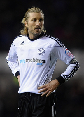 DERBY, ENGLAND - MARCH 01:  Robbie Savage of Derby County looks on during the npower Championship match between Derby County and Doncaster Rovers at Pride Park on March 1, 2011 in Derby, England.  (Photo by Laurence Griffiths/Getty Images)