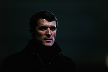 IPSWICH, ENGLAND - JANUARY 03:  Roy Keane, manager of Ipswich Town, looks on during the npower Championship match between Ipswich Town and Nottingham Forest at Portman Road on January 3, 2011 in Ipswich, England.  (Photo by Jamie McDonald/Getty Images)