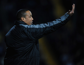 NOTTINGHAM, ENGLAND - FEBRUARY 25:  Paul Ince of Notts County gestures from the touchline during the npower League One match between Notts County and Charlton Athletic at Meadow Lane on February 25, 2011 in Nottingham, England.  (Photo by Laurence Griffit