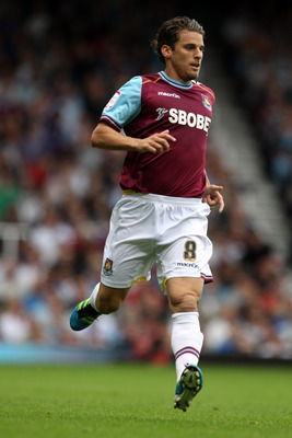 LONDON, ENGLAND - SEPTEMBER 10:  David Bentley of West Ham United in action during the npower Championship match between West Ham United and Portsmouth at Boleyn Ground on September 10, 2011 in London, England.  (Photo by Clive Rose/Getty Images)
