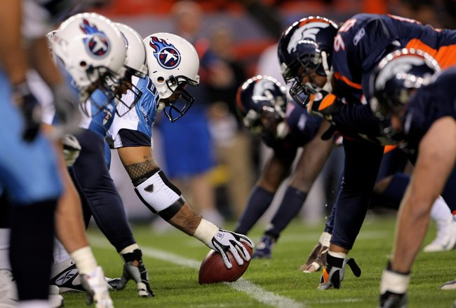 DENVER - NOVEMBER 19:  The Denver Broncos defeated the Tennessee Titans 34-20 at Invesco Field at Mile High on November 19, 2007 in Denver, Colorado.  (Photo by Doug Pensinger/Getty Images)