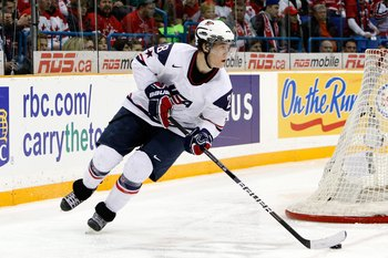 Jake Gardiner in the 2010 IIHF World Juniors