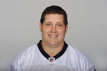 METAIRIE, LA - CIRCA 2010: In this handout image provided by the NFL, Zach Strief  of the New Orleans Saints poses for his 2010 NFL headshot circa 2010 in Metairie, Louisiana. (Photo by NFL via Getty Images)
