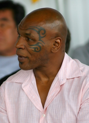 CANASTOTA, NY - JUNE 12: Mike Tyson listens during the 2011 International Boxing Hall of Fame Inductions at the International Boxing Hall of Fame on June 12, 2011 in Canastota, New York.  (Photo by Rick Stewart/Getty Images)