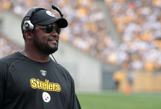 PITTSBURGH - SEPTEMBER 18:  Head coach Mike Tomlin of the Pittsburgh Steelers watches his team play against the Seattle Seahawks during the game on September 18, 2011 at Heinz Field in Pittsburgh, Pennsylvania.  (Photo by Jared Wickerham/Getty Images)