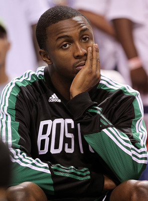 MIAMI, FL - MAY 03:  Avery Bradley #0 of the Boston Celtics looks on during Game Two of the Eastern Conference Semifinals of the 2011 NBA Playoffs against the Miami Heat at American Airlines Arena on May 3, 2011 in Miami, Florida. NOTE TO USER: User expre