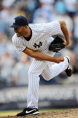 NEW YORK, NY - SEPTEMBER 19:  Mariano Rivera #42 of the New York Yankees throws a pitch in the ninth inning against the Minnesota Twins at Yankee Stadium on September 19, 2011 in the Bronx borough of New York City. Rivera become the all-time leader in sav