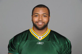 GREEN BAY, WI - CIRCA 2011: In this handout image provided by the NFL, Derek Sherrod of the Green Bay Packers poses for his NFL headshot circa 2011 in Green Bay, Wisconsin.  (Photo by NFL via Getty Images)