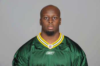 GREEN BAY, WI - CIRCA 2011: In this handout image provided by the NFL, D.J. Smith of the Green Bay Packers poses for his NFL headshot circa 2011 in Green Bay, Wisconsin.  (Photo by NFL via Getty Images)
