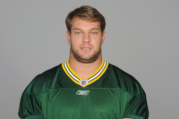 GREEN BAY, WI - CIRCA 2011: In this handout image provided by the NFL, Ryan Taylor of the Green Bay Packers poses for his NFL headshot circa 2011 in Green Bay, Wisconsin.  (Photo by NFL via Getty Images)