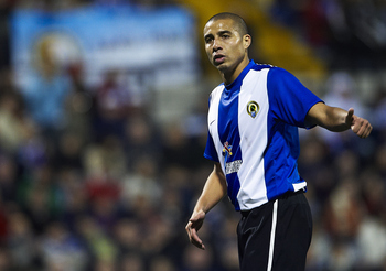 ALICANTE, SPAIN - JANUARY 29:  David Trezeguet of Hercules looks on during the la Liga match between Hercules and Barcelona at Estadio Jose Rico Perez on January 29, 2011 in Alicante, Spain. Barcelona won 0-3. (Photo by Manuel Queimadelos Alonso/Getty Ima