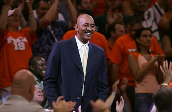 PHOENIX - JUNE 03:  NBA Legend George Gervin watches the Dallas Mavericks take on the Phoenix Suns in game six of the Western Conference Finals during the 2006 NBA Playoffs on June 3, 2006 at US Airways Center in Phoenix, Arizona.  The Mavericks won 102-9