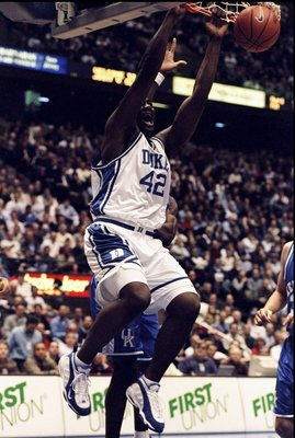 22 Dec 1998:  Forward Elton Brand #42 of the Duke Blue Devils in action during the Jimmy V Classic against the Kentucky Wildcats at the Continental Airlines Arena in East Rutherford, New Jersey. Duke defeated Kentucky 71-60. Mandatory Credit: Ezra O. Shaw