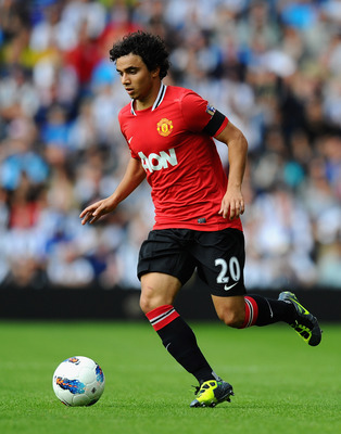 WEST BROMWICH, ENGLAND - AUGUST 14:  Fabio Da Silva of Manchester United in action during the Barclays Premier League match between West Bromwich Albion and Manchester United at The Hawthorns on August 14, 2011 in West Bromwich, England.  (Photo by Mike H