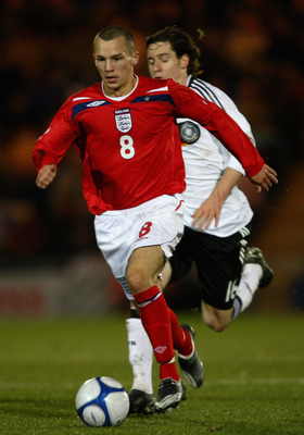 COLCHESTER, UNITED KINGDOM - NOVEMBER 18:  Danny Drinkwater of England in action during the match between England U19 and Germany U19 at the Weston Homes Community Stadium on November 18, 2008 in Colchester, England.  (Photo by Jamie McDonald/Getty Images