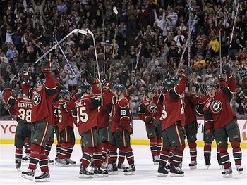 Wild players salute their fans following another great season of support last year.