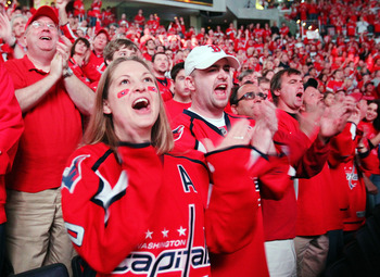 A sea of red can be found at just about every Capitals home game.
