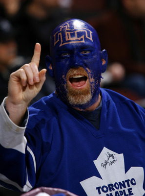 OTTAWA, ON - NOVEMBER 27:  Toronto Maple Leafs fan Lee Leroux attends the game between the Toronto Maple Leafs and the Ottawa Senators at Scotiabank Place on November 27, 2010 in Ottawa, Ontario, Canada.  (Photo by Phillip MacCallum/Getty Images)