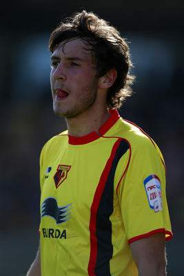 WATFORD, ENGLAND - APRIL 09:  Will Buckley of Watford looks on during the npower Championship match between Watford and Hull at Vicarage Road on April 9, 2011 in Watford, England.  (Photo by Dan Istitene/Getty Images)