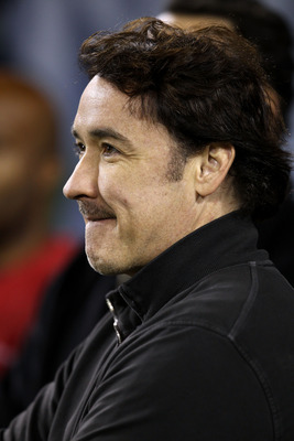 CHICAGO - SEPTEMBER 27:  Actor John Cusack attends the NFL game between the Chicago Bears and the Green Bay Packers at Soldier Field on September 27, 2010 in Chicago, Illinois.  (Photo by Jonathan Daniel/Getty Images)