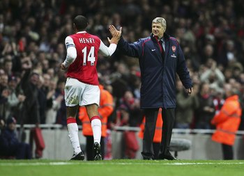 Thierry Henry and Arsene Wenger enjoyed some great years together in the EPL