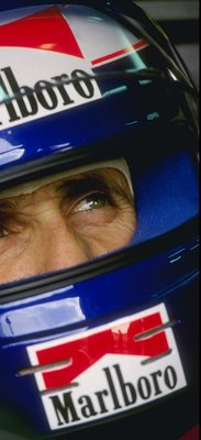 1991:  Ferrari driver Alain Prost of France in his crash helmet during the  Formula One Season. \ Mandatory Credit: Pascal  Rondeau/Allsport