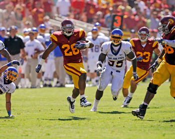 USC RB Marc Tyler runs hard and and has improved the mental part of his game this year