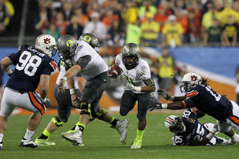 Oregon's short yardage rushing failed them against Auburn