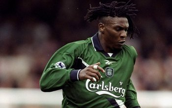 23 Oct 2000:  Rigobert Song of Liverpool in action during the FA Carling Premiership match against Southampton at the Dell in Southampton, England.  The match was drawn 1-1. \ Mandatory Credit: Mike Hewitt /Allsport