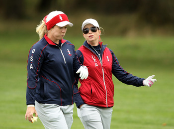 Brittany Lincicome and Paula Creamer