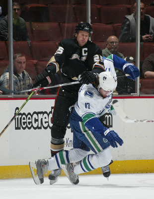 Chris Pronger stomped on Ryan Kesler with his skate in 2008