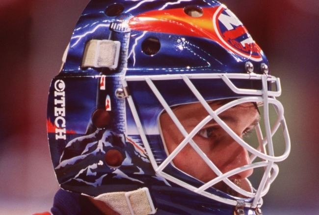 1994:  GOALTENDER RON HEXTALL OF THE NEW YORK ISLANDERS. Mandatory Credit: Robert Laberge/ALLSPORT