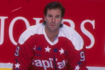 24 Jan 1995:  Washington Capitals rightwinger Rob Pearson (left) and center Dave Poulin on the ice before a game against the Quebec Nordiques at the Quebec Coliseum in Quebec City, Quebec.  The Nordiques won the game, 5-1. Mandatory Credit: Robert Laberge