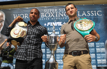 Ward (left) and Froch