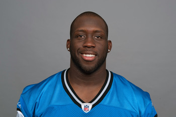 DETROIT, MI - CIRCA 2011: In this handout image provided by the NFL,  Stephen Tulloch of the Detroit Lions poses for his NFL headshot circa 2011 in Detroit, Michigan.  (Photo by NFL via Getty Images)