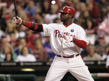 PHILADELPHIA, PA - SEPTEMBER 17: Ryan Howard of the Philadelphia Phillies gets set in the batters box against the St. Louis Cardinals in a MLB baseball game on September 17, 2011 at Citizens Bank Park in Philadelphia, Pennsylvania. (Photo by Rich Schultz/