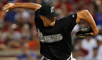 ARLINGTON, TX - JULY 02:  Steve Cishek #66 of the Florida Marlins throws against the Texas Rangers at Rangers Ballpark in Arlington on July 2, 2011 in Arlington, Texas.  (Photo by Ronald Martinez/Getty Images)