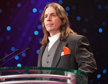 Bret Hart who feels snubbed.
