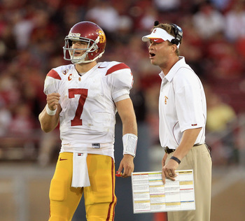 QB Matt Barkley and Coach Lane Kiffin