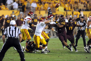 QB Matt Barkley throws pick-six interception in fourth quarter against ASU