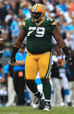 CHARLOTTE, NC - SEPTEMBER 18:  Ryan Pickett #79 of the Green Bay Packers during their game against the Carolina Panthers at Bank of America Stadium on September 18, 2011 in Charlotte, North Carolina.  (Photo by Streeter Lecka/Getty Images)