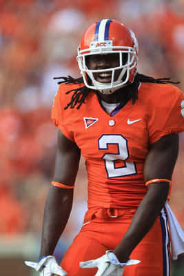 CLEMSON, SC - SEPTEMBER 24:  Sammy Watkins #2 of the Clemson Tiger celebrates after scoring a touchdown against the Florida State Seminoles during their game at Memorial Stadium on September 24, 2011 in Clemson, South Carolina.  (Photo by Streeter Lecka/G