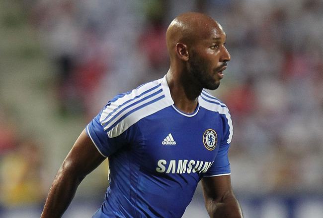BANGKOK, THAILAND - JULY 24: Nicolas Anelka #39 of Chelsea looks to pass during the pre-season friendly match between the Thailand All Stars and Chelsea at Rajamangala National Stadium on July 24, 2011 in Bangkok, Thailand.  (Photo by Chris McGrath/Getty