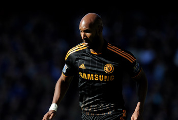 LIVERPOOL, ENGLAND - MAY 22:  Nicolas Anelka of Chelsea in action during the Barclays Premier League match between Everton and Chelsea at Goodison Park on May 22, 2011 in Liverpool, England.  (Photo by Chris Brunskill/Getty Images)