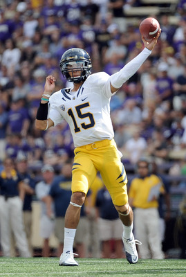 Cal QB Zach Maynard passed for 23 of 43 for 349 yards, one TD and no INT