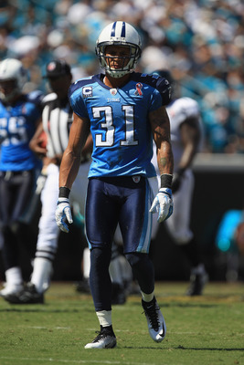 JACKSONVILLE, FL - SEPTEMBER 11:  Cortland Finnegan #31 of the Tennessee Titans against the Jacksonville Jaguars during their season opener at EverBank Field on September 11, 2011 in Jacksonville, Florida.  (Photo by Streeter Lecka/Getty Images)