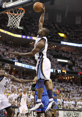 MEMPHIS, TN - MAY 07:  Tony Allen #9 of the  Memphis Grizzlies shoots the ball during the game against the Oklahoma City Thunder in Game Three of the Western Conference Semifinals in the 2011 NBA Playoffs at FedExForum on May 7, 2011 in Memphis, Tennessee
